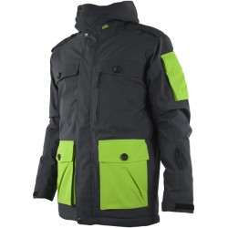 Veste Ski Junior WATTS Simeo anthracite/vert n°285b