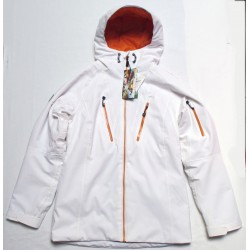 Veste Ski Femme WATTS Being blanc/orange