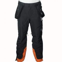 Pantalon Ski Homme SPYDER Propulsion noir/orange