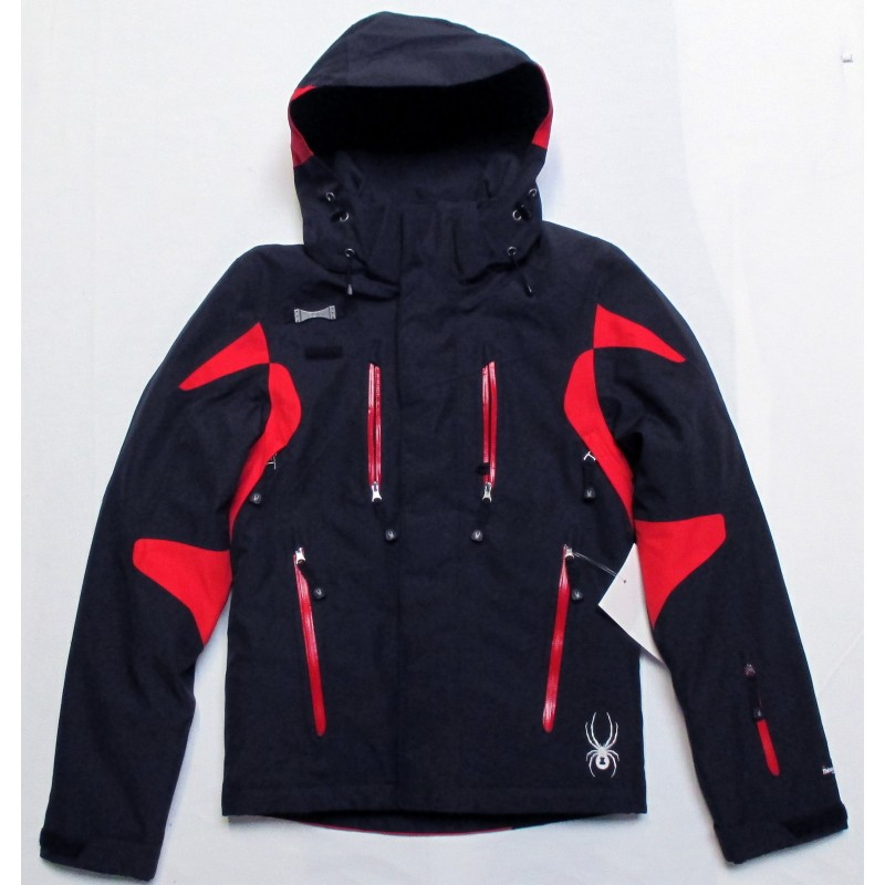 veste ski homme spyder alyeska noir rouge ebay. Black Bedroom Furniture Sets. Home Design Ideas