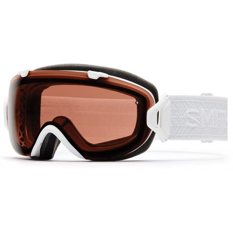 Masque de Ski Smith I/OS White eclipse