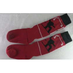 Chaussette junior rouge